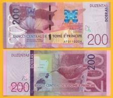 Saint Thomas & Prince / Sao Tomé E Principe 200 Dobras P-75 2016 (2018) UNC Banknote - São Tomé U. Príncipe