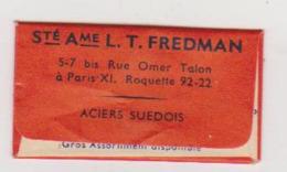 375 - LAME DE RASOIR ACIER SUEDOIS HELLEFORS Sté Ame L. T. FREDMAN . - Rasierklingen
