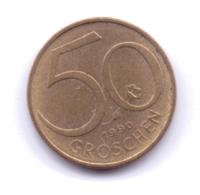 AUSTRIA 1990: 50 Groschen, KM 2885 - Autriche