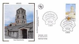 FRANCE. FDC. N°208298. 30/03/2012. Cachet Arles. Via Tolosana. Chemins De St Jacques De Compostelle - FDC