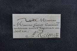 FRANCE - Lettre De Charleville Pour Reims En 1695 -  L 64505 - Marcophilie (Lettres)