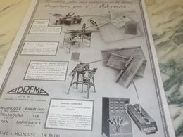 ANCIENNE PUBLICITE PLUS D ADRESSE A LA MAIN ADREMA 1925 - Manifesti