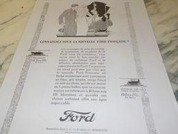 ANCIENNE PUBLICITE NOUVELLE VOITURES FRANCAISE  FORD 1925 - Cars