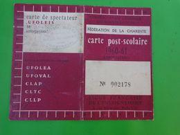 Carte Post Scolaire  Federation De La Charente - Cartes