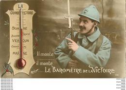 WW Guerre 1914-18 Militaires Poilus Soldats Patriotiques. Le Baromètre De La Victoire 1916 - Weltkrieg 1914-18