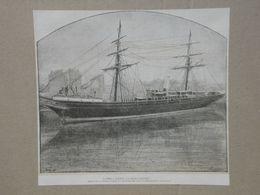 Ville D'Anvers. Gravure 1885. - Historische Dokumente