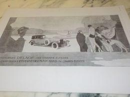 ANCIENNE PUBLICITE CARROSSERIE LETOURNEUR  VOITURE DELAGE  1925 - Cars