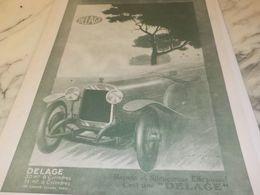 ANCIENNE PUBLICITE VOITURE  VOITURE DELAGE  1925 - Cars