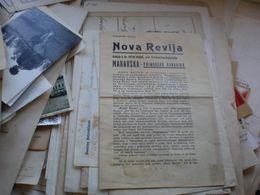 Makarska Nova Revija Primorska Banovina Knjizevni Oglas - Historische Dokumente