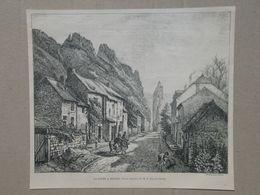 Dinant. Gravure 1885. - Historische Dokumente