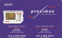 Belgium, BE-PRO-GSM-?, Proximus (half Circles), GSM / SIM Card With Chip, 2 Scans. - Autres