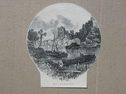 Hoei / Huy. Gravure 1885. - Historische Dokumente