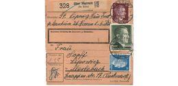Colis Postal  / über Horrem ( Bz Köln )   / 1/12-43 - Briefe U. Dokumente