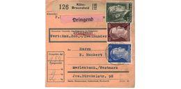 Colis Postal  /de Köln - Braunsfeld / 6-12-43 - Briefe U. Dokumente