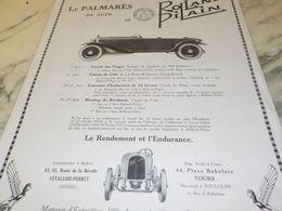 ANCIENNE PUBLICITE PALMARES DE JUIN VOITURE ROLLAND PILAIN  1925 - Cars