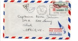 NOUVELLE CALEDONIE LETTRE TAXEE POUR LE TCHAD 1961 - Lettres & Documents