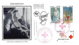 FRANCE. FDC. N°208333. 7/11/2014. Cachet Paris. Croix Rouge. Infirmière Et Déporté. Signé - 2010-....