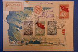 D19 BELLE LETTRE 1938 RUSSIE POUR PARIS + AFFRANCHISSEMENT PLAISANT - Lettres & Documents
