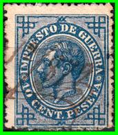 ALFONSO XII  SELLO AÑO 1876 IMPUESTO DE GUERRA - Usados