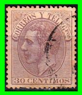 ALFONSO XII  SELLO AÑO 1882 CORREOS Y TELEGRAFOS VALOR 30 CENTIMOS - Usados