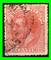 ALFONSO XII  SELLO AÑO 1882 CORREOS Y TELEGRAFOS VALOR 15 CENTIMOS - Usados