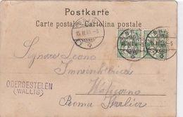 """Stabstempel *Obergestelen"""" Auf AK Von Basel Geschrieben An Einen Schweizer Gardisten Im Vatikan - 1905    (P-256-00405) - Postmark Collection"""