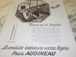 ANCIENNE  PUBLICITE CONDUITE EXTRA LEGERE PAUL AUDINEAU 1925 - Manifesti