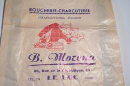 LE  LUC  ( Var )  SAC - BOUCHERIE-CHARCUTERIE - B . MORENA  - 58,rue De La République - Tel . 79 - - Publicités