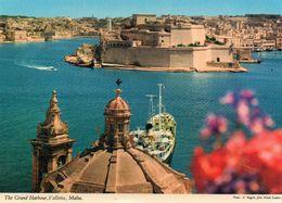 Malte La Valette Belle Vue Du Port Bateau - Malta