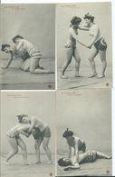 NUS FEMININS - LA CEINTURE D 'OR - Série De 10 Cartes Postales ( En Parfait état) - Belleza Feminina (1941-1960)