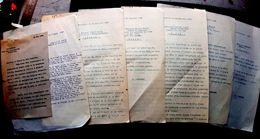 ALSACE AUTONOMISME 6 LETTRES TAPUSCRITES  ADRESSEES A DES NOTABLES ALSACIENS AUTONOMISTES OU PRO ALLEMANDS 19230/1939 - Historische Dokumente