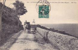 CPA ESPAGNE @ Fontarrabie Hondarribia Et Le Cabo Higuer - Pays Basque - Diligence Au Phare En 1912 - Espagne
