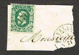 COB 30 LP 171, Cachet Double Cercle  HAVELANGE 3 OCT 71 Sur Fragment - 1869-1883 Leopold II