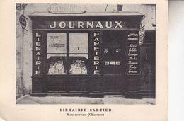 LIBRAIRIE CARTIER  MONTMOREAU              TRES RARE - France