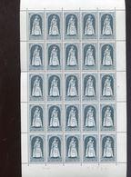 Belgie 1967 1436 Xmas Kerstmis Noel Madonna Virga Jesse Hasselt Vel Plaatnummer 1 - Full Sheets