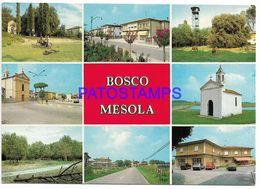 137731 ITALY BOSCO MESOLA FERRARA MULTI VIEW RADIO QSO YEAR 1988 POSTAL POSTCARD - Italia