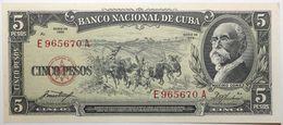 Cuba - 5 Pesos - 1958 - PICK 91a - NEUF - Cuba
