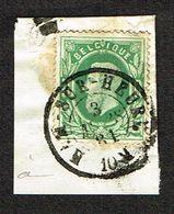 COB 30  Oblit Double Cercle HAM-SUR-HEURE 3 MARS 81 Sur Fragment - 1869-1883 Leopold II