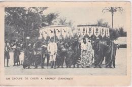 AFRIQUE - DAHOMEY - UN GROUPE DE CHEFS A ABOMEY - Dahomey
