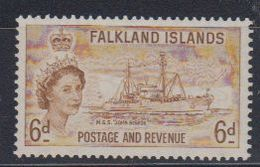 Falkland Islands 1955 Pictorials / MSS John Biscoe 6d ** Mnh (48701) - Falkland Islands