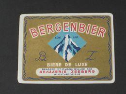Oud Etiket BERGENBIER Brouwerij ZEEBERG Te AALST - Beer