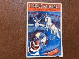PROGRAMME CIRQUE  CIRQUE NATIONAL   Saison 1951 - Programs