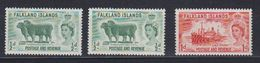 Falkland Islands 1956 Pictorials 3v ** Mnh (48701B) - Falkland Islands