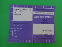 Carte Post Scolaire 1962-63 Association Ligue Francaise De L'enseignement - Cartes