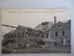 Moyencourt  Les Ruines De La Sucrerie Bombardée - Autres Communes