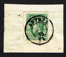COB 30  Cachet Double Cercle ANTHEE 2 MAI 73 Sur Fragment - 1869-1883 Leopold II