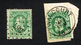 COB 30  2 Exemplaires : LP 387, Cachet Simple Cercle WALCOURT 1878 - 1869-1883 Leopold II