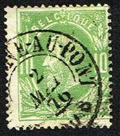 COB 30   Cachet Double Cercle Marchienne-au-Pont 2 MAI 76 - 1869-1883 Leopold II