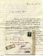 Letter Posted Registered 1917 Dr. Berislav Borčić, Bern To Dr. Đuro Guča, Chicago - Retourned B200701 - Montenegro