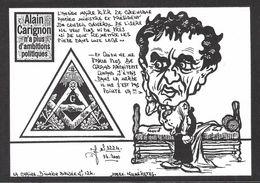 CPM Grenoble Carignon Satirique Caricature Maçonnique Tirage Limité En 100 Ex. Numérotés Signés - Grenoble